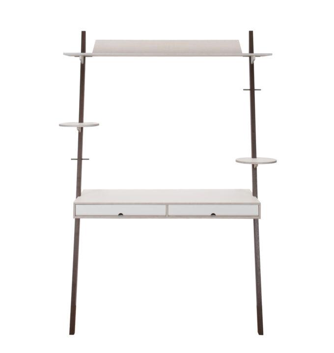 Lean on desk urban mit Nussbaumfüsse. Produziert von Girsberger. Gestaltet von Patrick Müller.